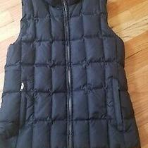 Gap S Black Zip Puffer Quilted Vest Sleeveless Jacket With Pockets Photo