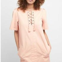 Gap S Lace-Up Shift Dress Pink 223911 Small Sp18tassel Cover Up 4 6 8 M Photo