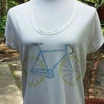 Gap S Tee Shirt Top White Bicycle Bike  Photo