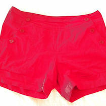Gap Sandro Red Hot High Waist  Sailor Shorts  8  Photo