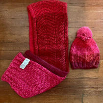 Gap Scarf and Knit Hat Set Pink Ombre  Photo