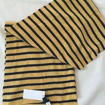 Gap Scarf Mens Nwt Stripes Mustard Blue Acrylic Winter  Photo