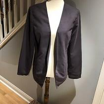 Gap Shawl Collar Gray Purple Violet Jacket Size 12 Photo