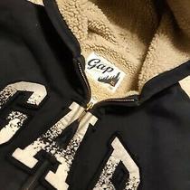 Gap Sherpa Navy Boys Jacket Size 12 Photo