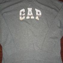 Gap Shine Logo Cotton Blend Gray Crew Neck Sweatshirt Size Xs Photo
