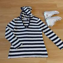 Gap Shirt Hoodie Pullover Blue White Stripe Casual Top Long Sleeve Size L Shirt Photo