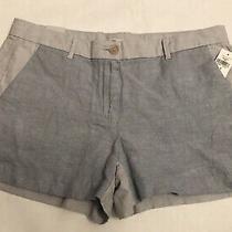 Gap Short Shorts Chambray Women's Size 8 Nwt Cotton/linen Photo