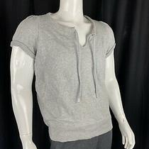 Gap Short Sleeve Gray Sweatshirt in French Terry - Womens Size Large Nwt Photo