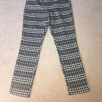 Gap Signature Skinny Ankle Black and White Checkered Trousers Size 6 Photo