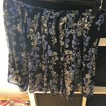 Gap Size 10 Blue Floral Pleated Skirt (S8) Photo