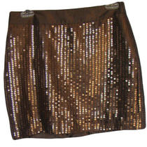 Gap Size 2 Copper Brown Sequined Sequins Mini Skirt Nwt 49 Clearance Photo