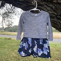 Gap Size 3 Cosy Floral Sweatshirt Dress Photo