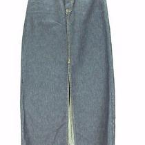 Gap Size 4front Slit Long Maxi Dark Denim Blue Jean Skirtmodest5 Pcktnwotw Photo