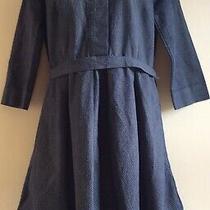 Gap Size 8 Pleated Dress Blue/ White Spot Photo
