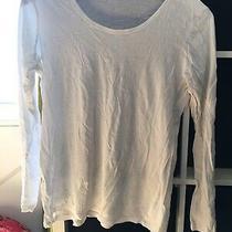 Gap Size Large White Long Sleeve T-Shirt (S6) Photo