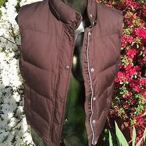 Gap Size Small Brown Down Puffy Vest  Photo