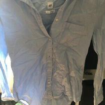 Gap Size Small Fitted Boyfriend Shirt Long Sleeve Blue (S6) Photo