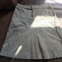 Gap Size Uk 2 Brown Cord Skirt Knee Length (G4) Photo