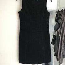 Gap Size Uk 8 Black Sleeveless Velvet Dress.    (C1) Photo