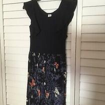 Gap Size Xl Size 12  Navy Blue Sleeveless Dress W/multi-Colored Skirt Photo
