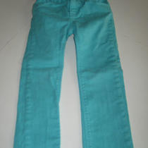 Gap Skinny Jeans Spring Summer Pants Aqua Blue Adjustable Waist Euc Girls 4  Photo