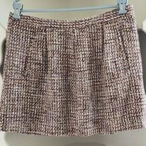 Gap Skirt Size 14 Pink Purple White Tweed Plaid Lined Flared Career Side Zip Photo