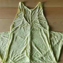 Gap Sleeveless Modal Swing Dress Fresh Yellow Size Small Photo