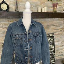 Gap Stretch Blue Denim Jean Jacket Size Medium Mint Condition Retail 118 Photo