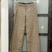 Gap Stretch Brown Plaid Houndstooth Wide Leg Pants Size 8 Photo