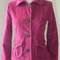 Gap Stretch Button Front Long Sleeve Corduroy Jacket Cotton Blend Pink Coat 2 Photo