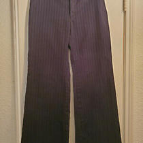 Gap Stretch Dress Pants Size 4 Black Pinstripes Photo