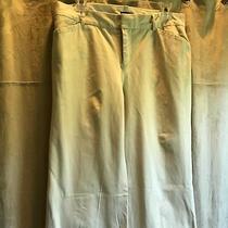 Gap Stretch Khaki Pants Modern Fit Flare Leg Light Beige Size 8 Regular 8r Photo