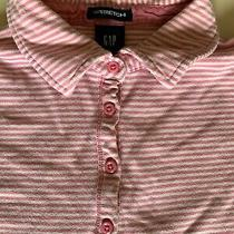 Gap Stretch Pink and White Stripe Short Sleeved Top Size Xs/tp Photo
