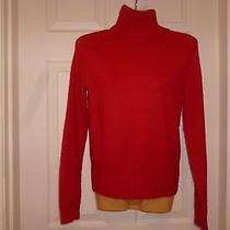 Gap Stretch Red Wool Blend Solid Sweater Sz Medium Free Ship Photo
