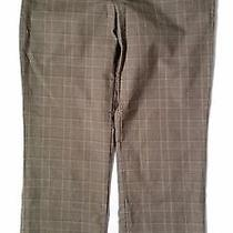 Gap Stretch Straight  Dress Pants  Size 6 Ankle  Women's  Pre-Owned Tan Plaid Photo