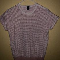 Gap Stretch Sweater Blouse Pink Multi Short Sleeve Women's Size Xl Photo