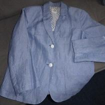 Gap Striped Modern Blazer Size Uk 14 Photo