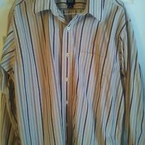Gap Striped Shirt Button Up Large Mens Photo