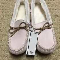 Gap Sueded Sherpa-Lined Moccasin Slippers for Women Photo