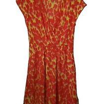 Gap Summer Dress Animal Print Orange Yellow Pink Pockets Size 4 Photo