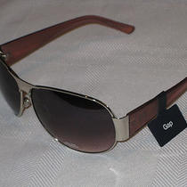 Gap Sunglasses Silver Metal Frame Aviator Pilot New With Tag Uva Uvb Protection Photo