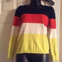 Gap Sweater Dark Blue Red White Yellow Sz Xs Photo