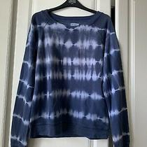 Gap Sweater Jumper Top Navy and White Tie Dye Cotton Size Small S  Photo