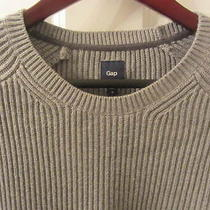 Gap Sweater Mens Medium Grey Gray Awesome Photo