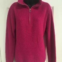 Gap Sweater Size Small Fuschia Pink Chunky Knit 1/4 Zip Neck Long Sleeve Womens Photo