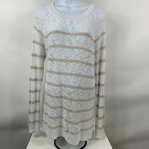 Gap Sweater Women's Size Large Loose Knit Striped Long Sleeve Round Neck Casual Photo