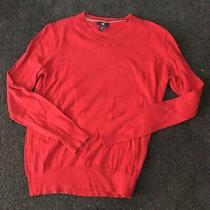 Gap Sz Xs Ladies Red v Neck Sweater Euc Photo