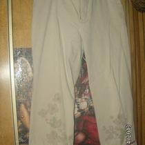 Gap Tan W/flowered Legs Casual Dress Capri's  Size 10 Photo
