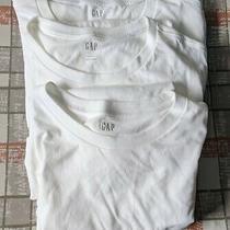 Gap Tee Shirt Top Women's Large White Lot of 3 Photo