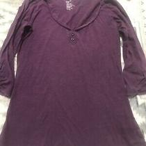Gap Tee Sz Xs Purple 3/4 Sleeve Photo